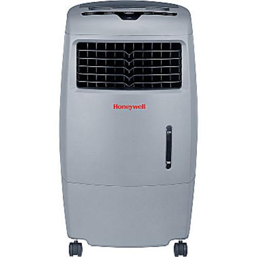 Honeywell 500 CFM Indoor/Outdoor Evaporative Air Cooler (Swamp Cooler) with Remote Control in Gray