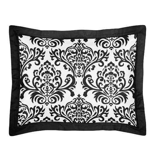 Sweet Jojo Designs Isabella Black and White Collection Standard Pillow Sham
