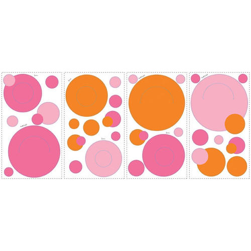RoomMates Wallpockets-Pink Peel & Stick Wall Decals