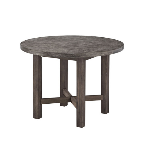 Concrete Chic Round Dining Table by Home Styles
