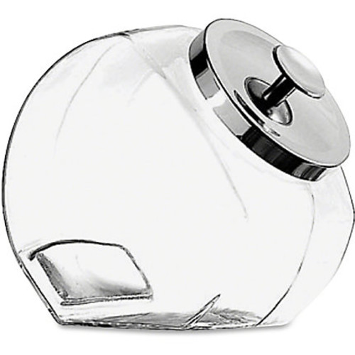Office Settings Penny Candy Display Container, 4 Quart, Clear/Chrome