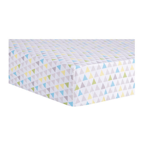 Trend Lab Triangles Fitted Crib Sheet - Multicolor