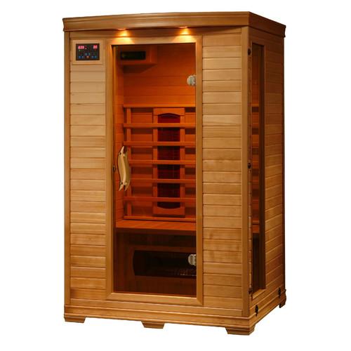 Radiant Sauna 2-Person Hemlock Deluxe Infrared Sauna w/ 5 Ceramic Heaters