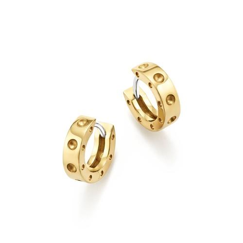 Pois Moi 18K Yellow Gold Huggie Hoop Earrings/0.28