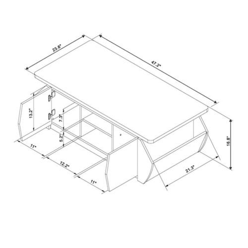 Furniture of America Collins Modern Espresso 4-door Angular Storage Coffee Table