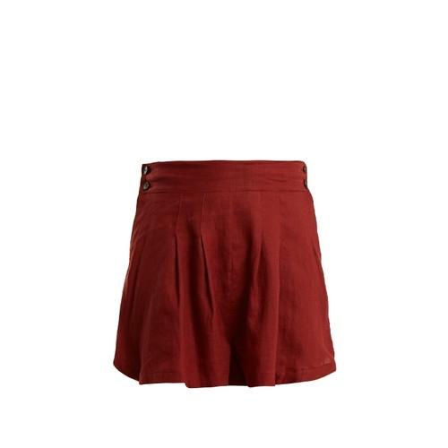 Rhoda pleated linen shorts