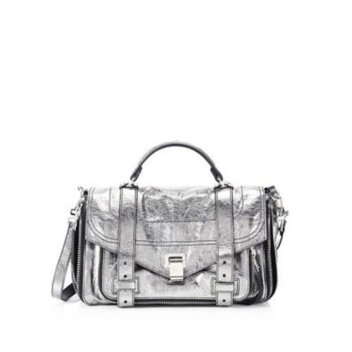 Medium Metallic Leather Shoulder Bag