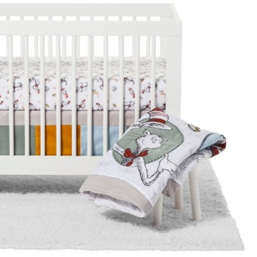 Trend Lab Dr. Seuss Crib Bedding Set - Classic Cat in the Hat - 3pc