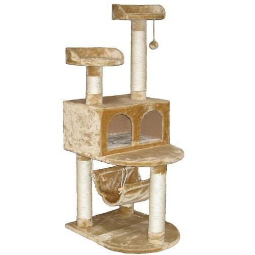Go Pet Club Cat Tree Condo House, 21W x 24L x 54H Inches, Beige