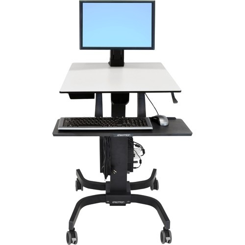 Ergotron - WorkFit-C Single LD Sit-Stand Workstation - Black, Gray