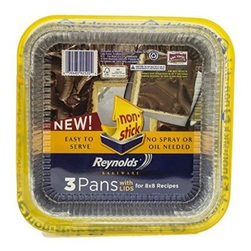 Reynolds Bakeware Pans Non-Stick with Lids - 3ct