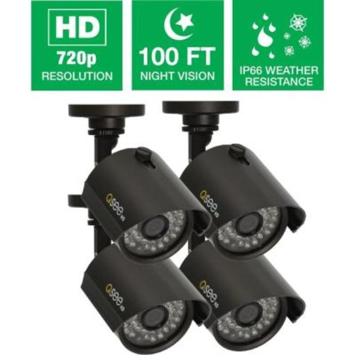 Q-SEE Wired 720p Indoor/Outdoor HD Bullet Camera with 100 ft. Night Vision (4-Pack)