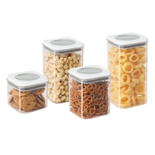 Oggi 4-Piece Twist and Store Canister Set