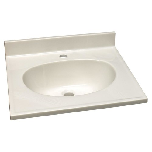 Design House 31 in. Single Faucet Hole Cultured Marble Vanity Top with Solid White Basin