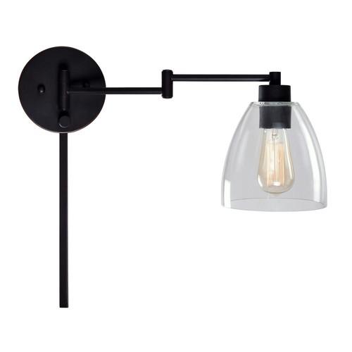 Kenroy Home Edis 1-Light Bronze Wall Swing Arm Lamp