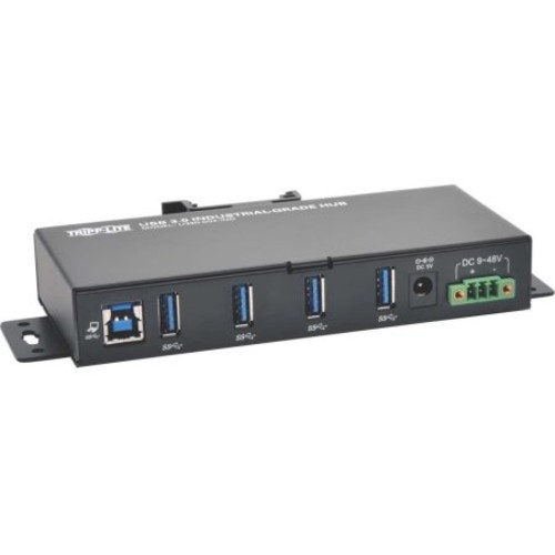Tripp Lite 4-Port Rugged Industrial USB 3.0 SuperSpeed Hub - 4x Ports, USB 3.0, 15KV ESD Immunity, Metal Case, Mountable - U360-004-IND