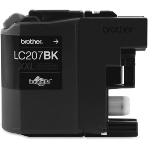 Brother Innobella LC207BK Super High Yield Inkjet Cartridge 1200 Page Yield, Black