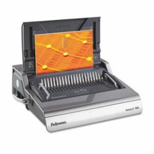 Fellowes Galaxy Electric Comb Binding System, 500 Sheets, 19 5/8 x 17 3/4 x 6 1/2, Gray per EA