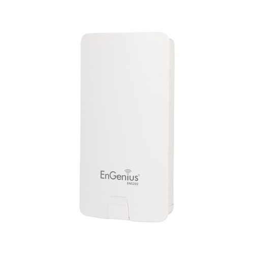 EnGenius Long-Range 2.4 GHz Outdoor Wireless N300 Bridge/Access Point - 300 Mbps, 2x Ports, RJ-45, 802.11b/g/n, 2.4 GHz, Internal 8 dBi Directional Antenna with Dual Polarization (ENS202)