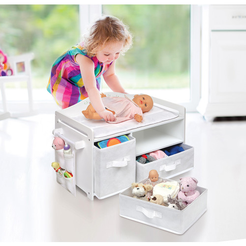 Badger Basket Doll Care Station - White Rose