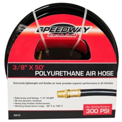 SPEEDWAY 3/8 in. x 50 ft. Lightweight Heavy-Duty Polyurethane Air Hose