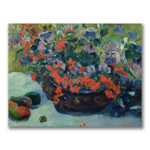 Trademark Fine Art Paul Gauguin 'Bouquet of Flowers 1897' Canvas Art 35x47 Inches