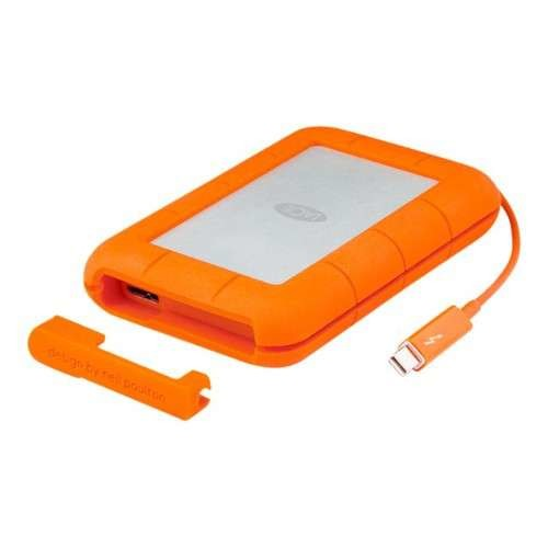 LaCie Rugged Thunderbolt Hard Drive - External, 2TB, Portable, USB 3.0 / Thunderbolt, 256-bit AES, Shock & Water Resistant, Password Authentication, Dust-Proof, Rugged - STEV2000400