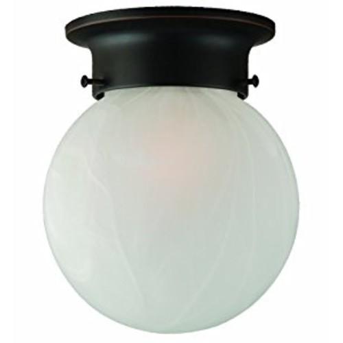 Design House 514521 Millbridge 1 Light Round Ceiling Light, Oil Rubbed Bronze