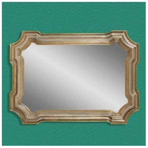 Bassett Mirror Old World Angelica Wall Mirror in Silver and G