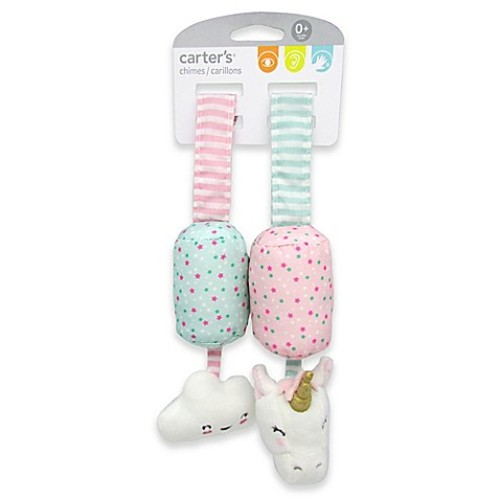 carter's Cloud and Unicorn Plush Chime Toys in Pink/Purple