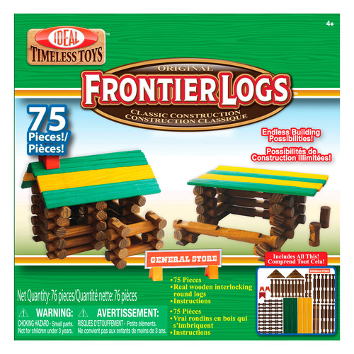 Ideal Frontier Logs, 75 Pieces