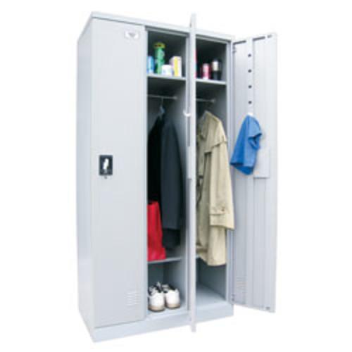 Atlantic Metal Industries Storage In A Snap Lockers, Single Tier, 3 Wide, Dove Gray