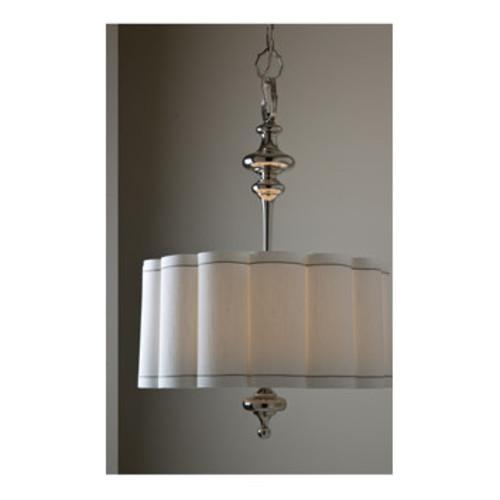 Fluted 4-Light Drum Pendant