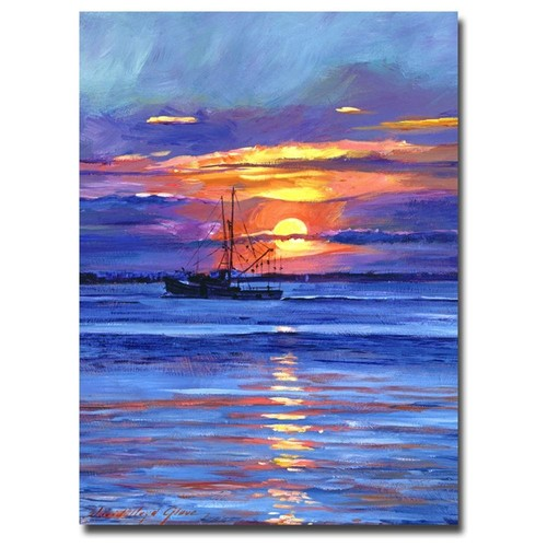 David Lloyd Glover 'Salmon Trawler at Sunrise' Canvas Art