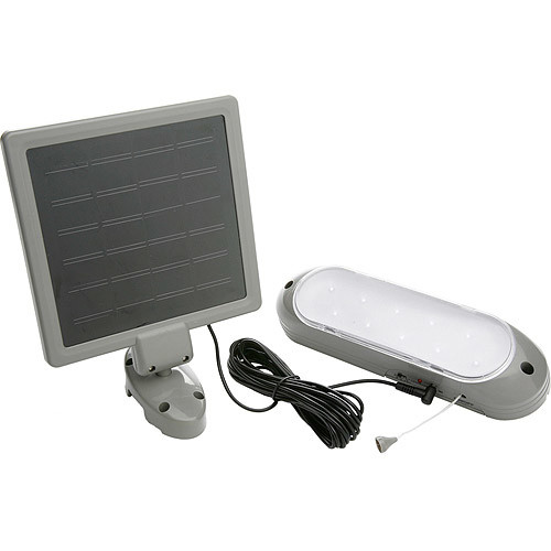 Designers Edge 10-LED Rechargeable Solar-Panel Shed Light