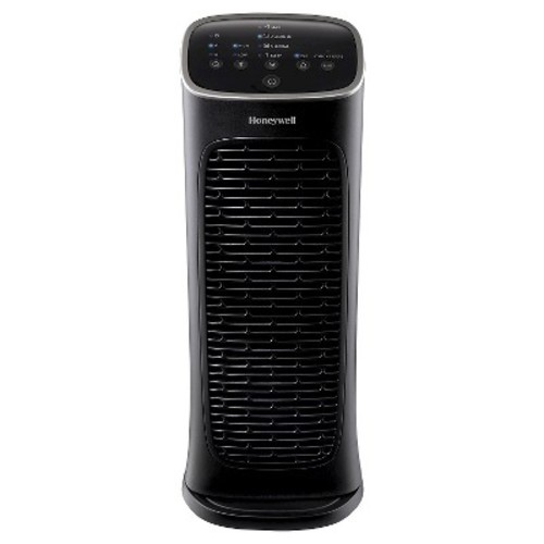Honeywell - Compact AirGenius 4 Tower Air Purifier - Black