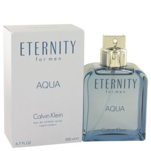 Calvin Klein Eau De Toilette Spray 6.7 Oz Eternity Aqua Cologne By Calvin Klein For Men