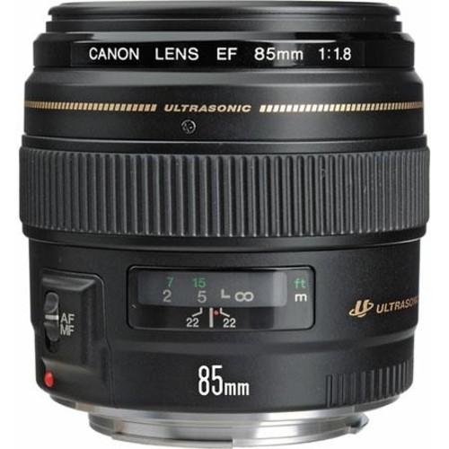 Canon EF 85mm f/1.8 USM Lens, USA Warranty 2519A003