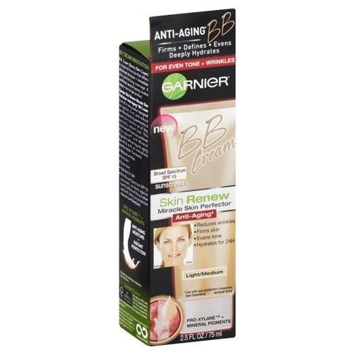 Skin Renew Miracle Skin Perfector BB Cream, Anti-Aging, Light/Medium, SPF 15, 2.5 fl oz (75 ml)