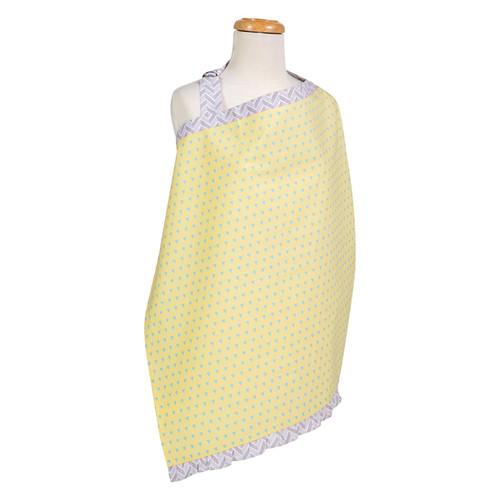 Trend Lab Triangles Yellow and Aqua Nursing Cover