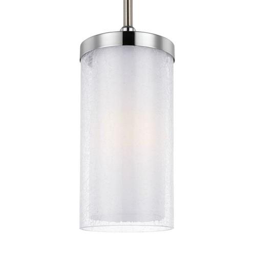 Feiss Jonah 1-Light Satin Nickel/Chrome Pendant