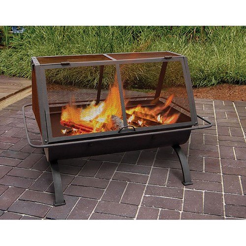 Landmann Northwood Outdoor Fireplace  26in.H, Black,