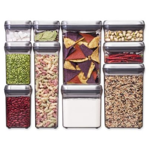 OXO Good Grips 10-Piece Food Storage Pop Container in Stainless Steel
