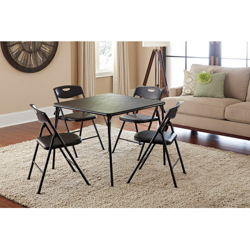 Cosco 5-Piece Folding Table and Chair Set, Multiple Colors