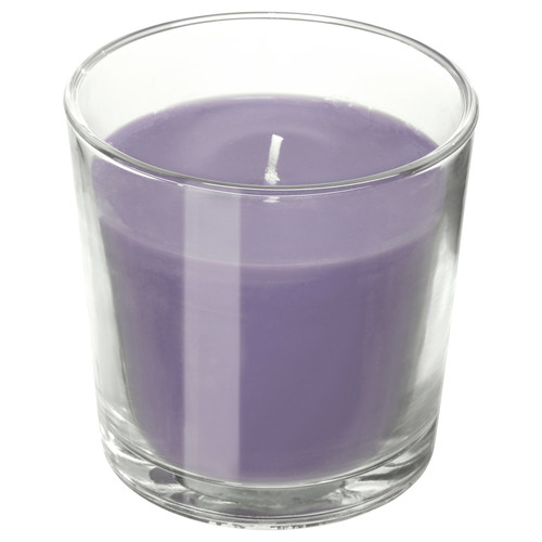 SINNLIG Scented candle in glass, Blackberry, lilac