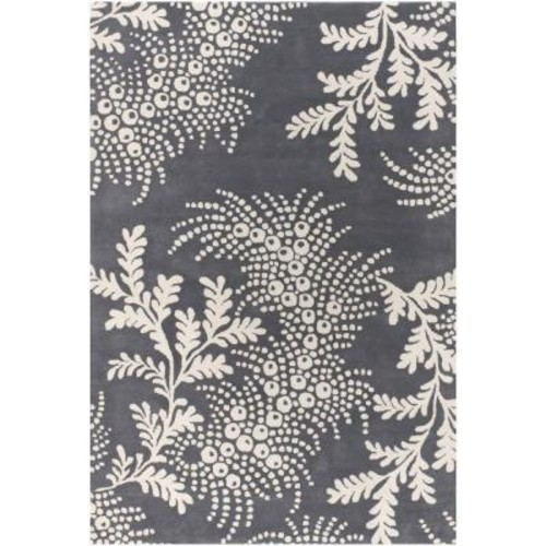 Chandra Rowe Grey/Ivory 7 ft. 9 in. x 10 ft. 6 in. Indoor Area Rug