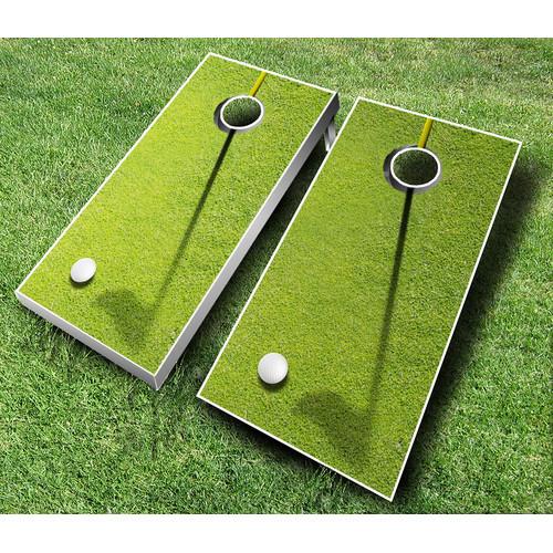 10 Piece Golf Cornhole Set [Bean Bag Color : Red/Orange]