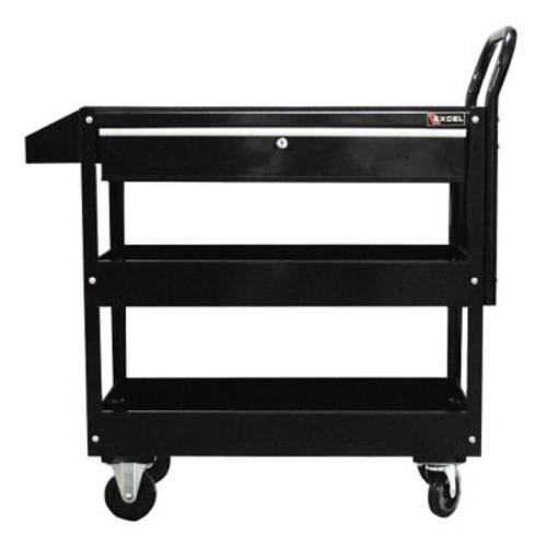 Excel Metal Utility Cart; Black