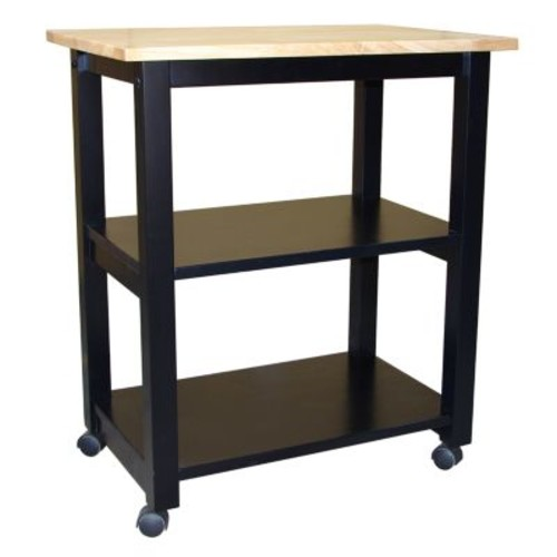 International ConceptsWC10-185 Microwave Cart, Black/Natural [black]