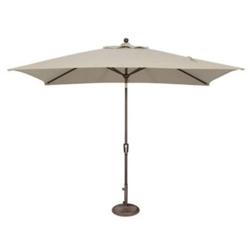 SimplyShade 10' x 6.5' Catalina Rectangular Market Umbrella; Sunbrella / Antique Beige